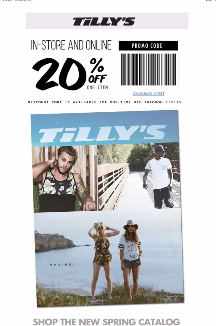 Tillys is your one stop shop for fashion you crave for less. Shop now and get Free Shipping On Orders Over $49! No coupon or promo code required. Limited-time offer.